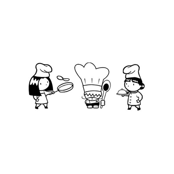 Vinilo decorativo tres cocineros imagina tu cuadro for Tu vinilo decorativo