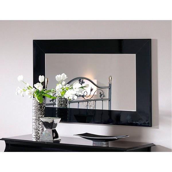 Espejo con moldura lacada ultrabrillante imagina tu for Espejos decorativos rectangulares