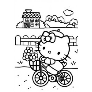 "Vinilo especial ""Hello Kitty bicicleta"""
