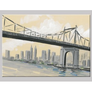 "Pintura mixta ""Manhattan Bridge"""