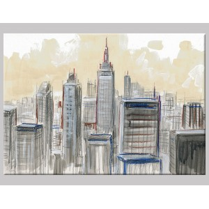 "Pintura mixta ""View Manhattan"""
