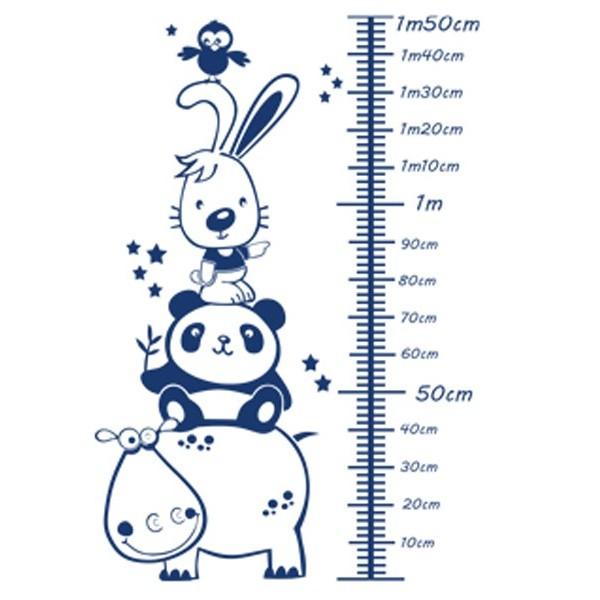 Vinilo infantil medidor ni o animales for Vinilos infantiles nino