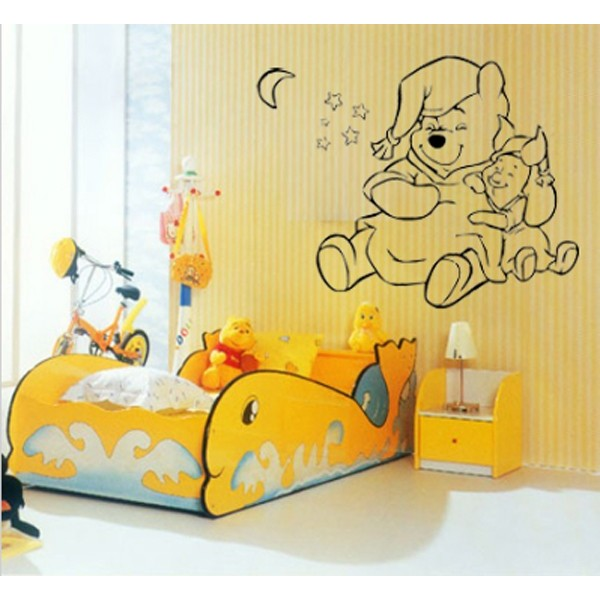 Vinilo infantil winnie de pooh imagina tu cuadro for Cuarto winnie pooh